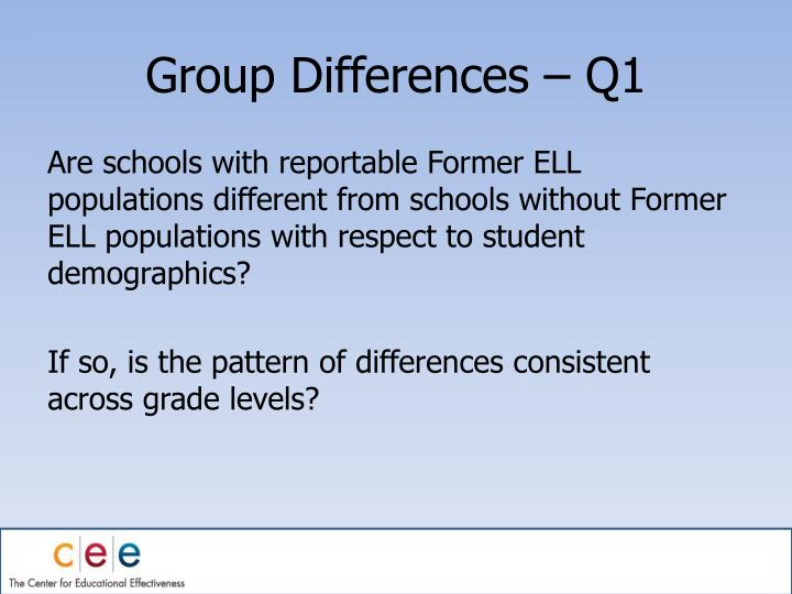 Group Differences – Q1