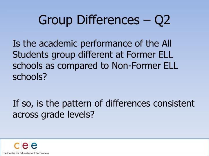 Group Differences – Q2