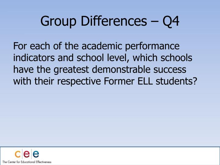 Group Differences – Q4