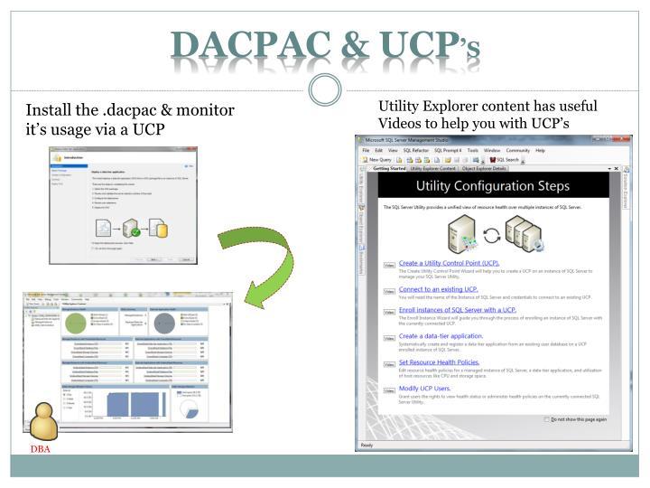 DacPAC & UCP