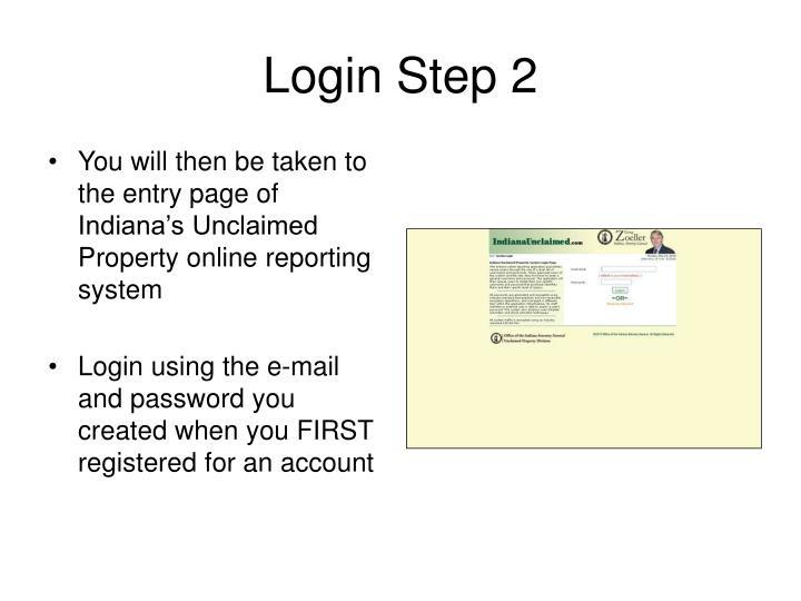 Login Step 2