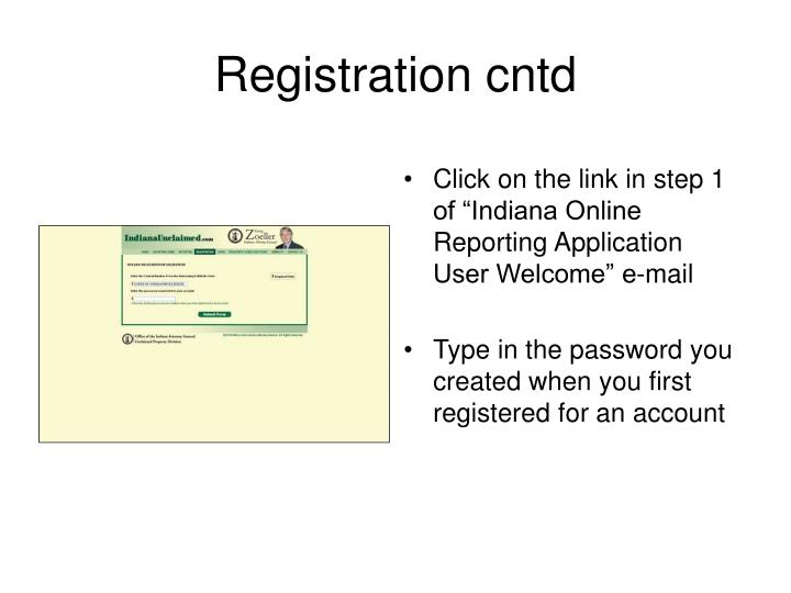 Registration cntd