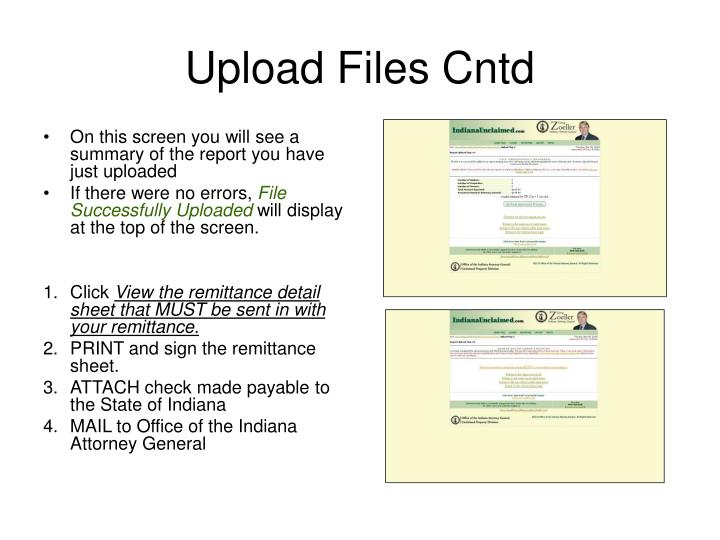 Upload Files Cntd