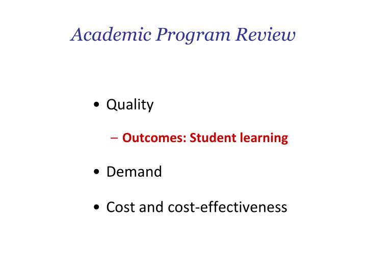 Academic Program Review