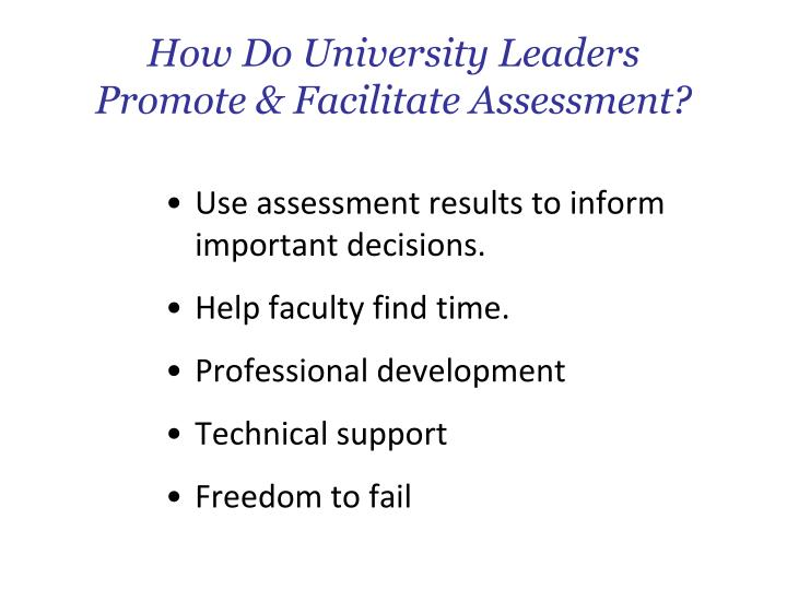 How Do University Leaders
