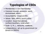 typologies of csos