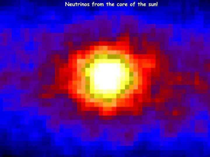 Neutrinos from the core of the sun!