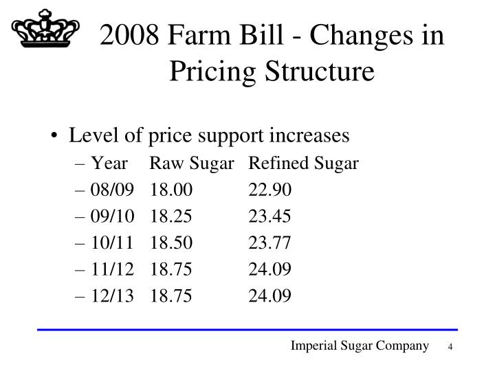 2008 Farm Bill - Changes in Pricing Structure