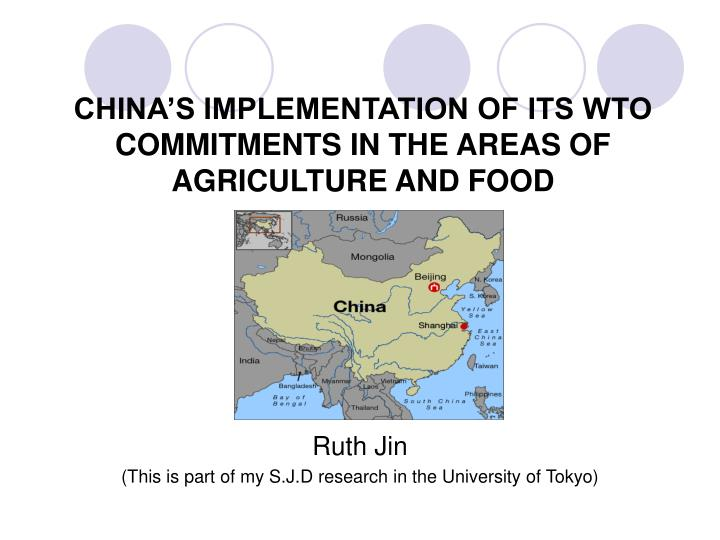 china s implementation of its wto commitments in the areas of agriculture and food