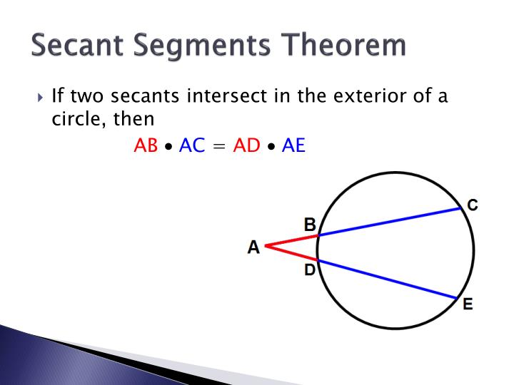 Secant Segments Theorem