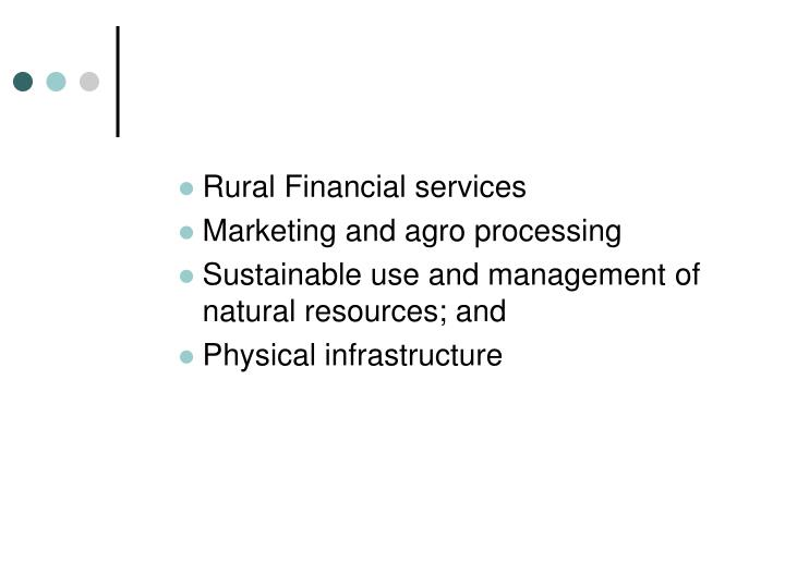 Rural Financial services