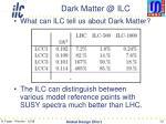 dark matter @ ilc