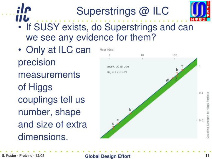 Superstrings @ ILC