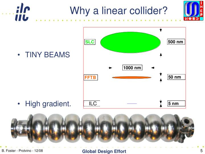 Why a linear collider?
