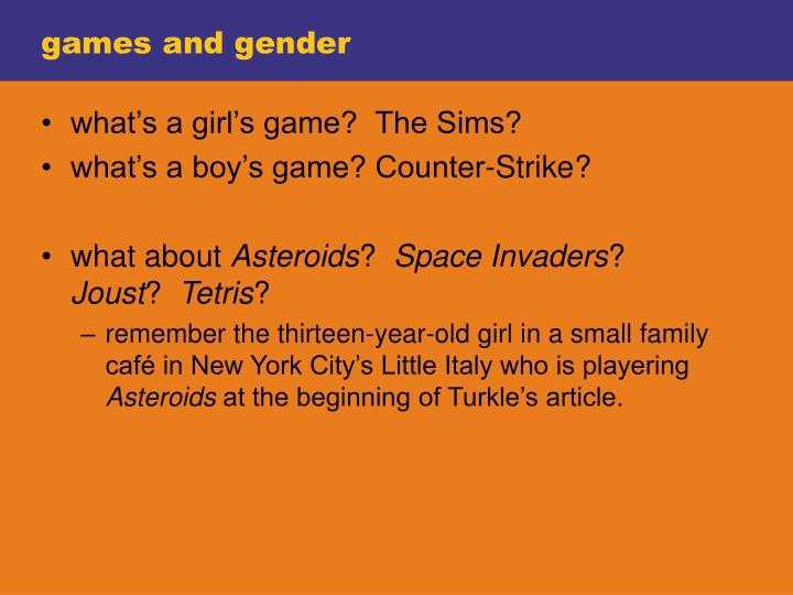 games and gender