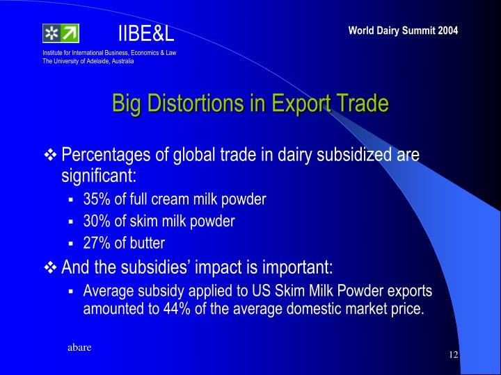 Big Distortions in Export Trade