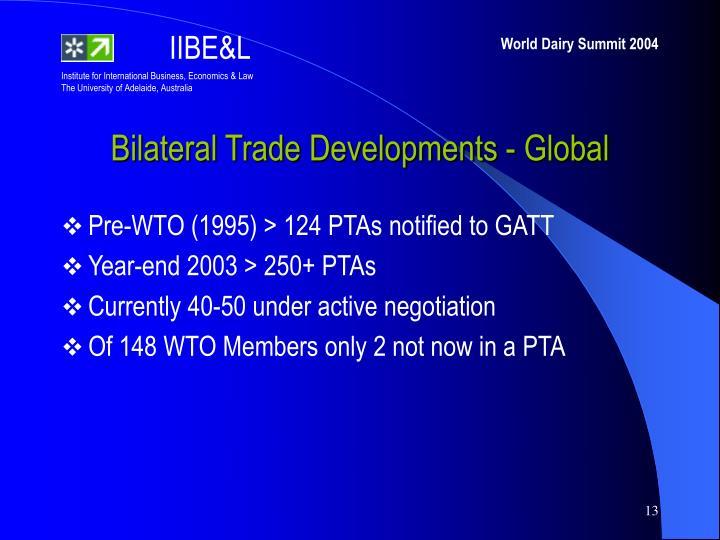 Bilateral Trade Developments - Global