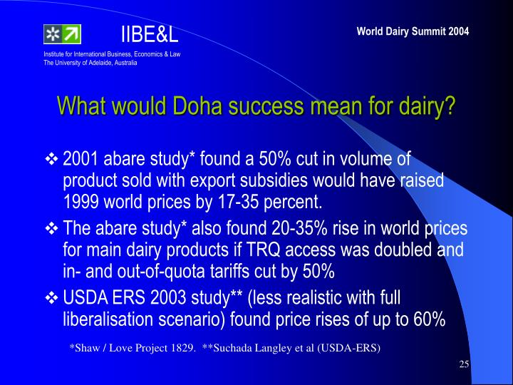 What would Doha success mean for dairy?