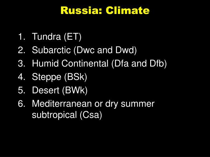 Russia: Climate