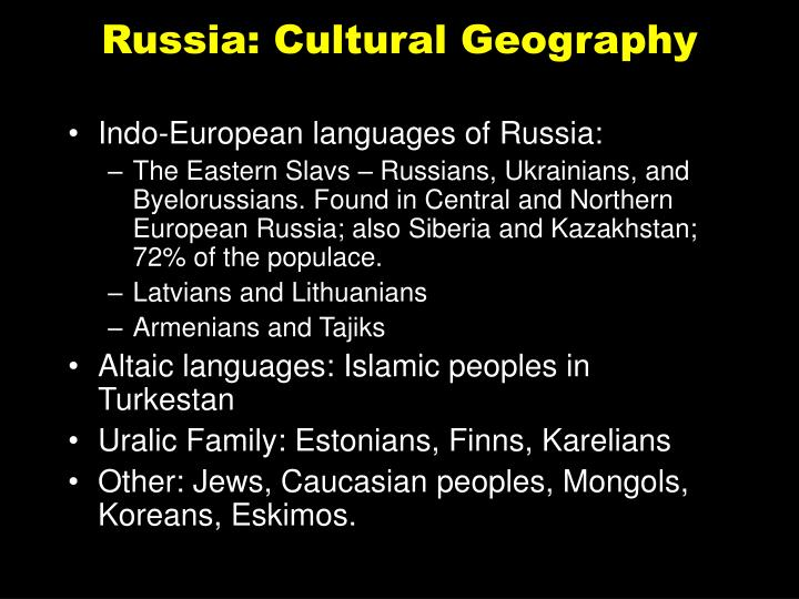 Russia: Cultural Geography