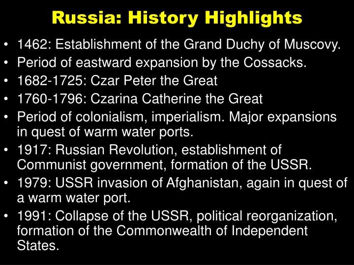 Russia: History Highlights