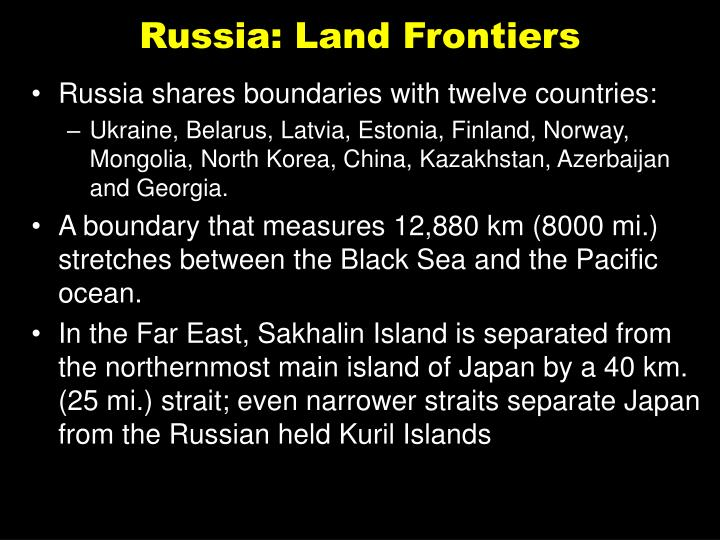 Russia: Land Frontiers