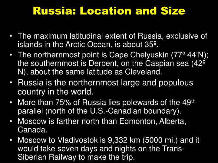 Russia: Location and Size