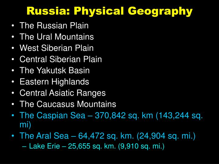Russia: Physical Geography