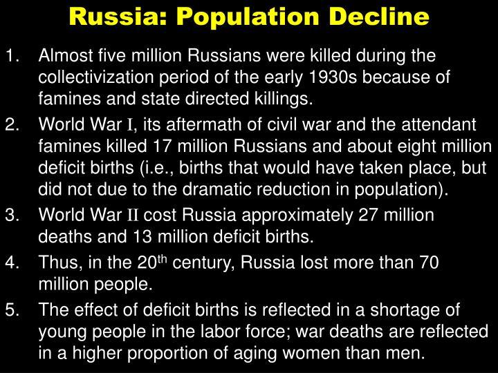 Russia: Population Decline