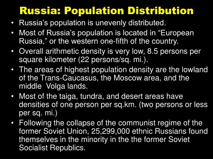 Russia: Population Distribution