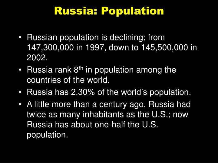 Russia: Population