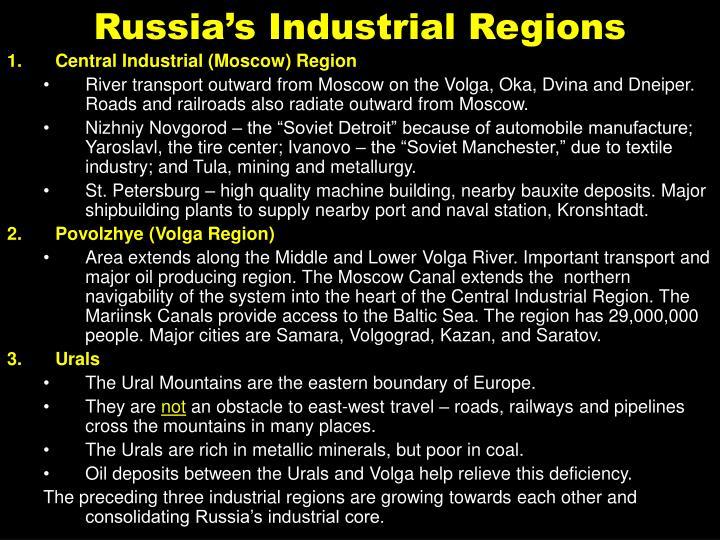 Russia's Industrial Regions