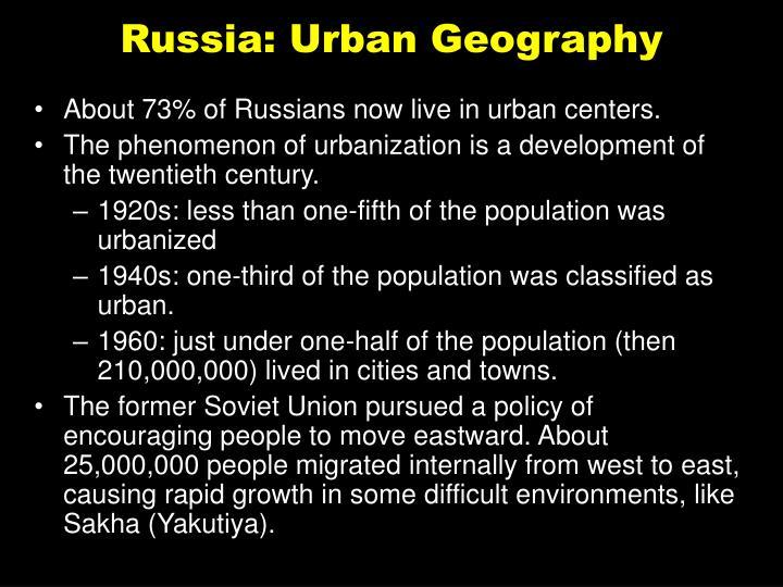 Russia: Urban Geography