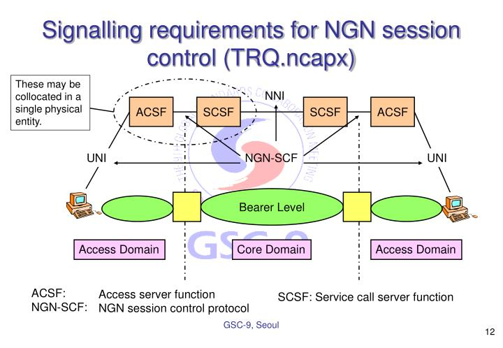 Signalling requirements for NGN session control (TRQ.ncapx)