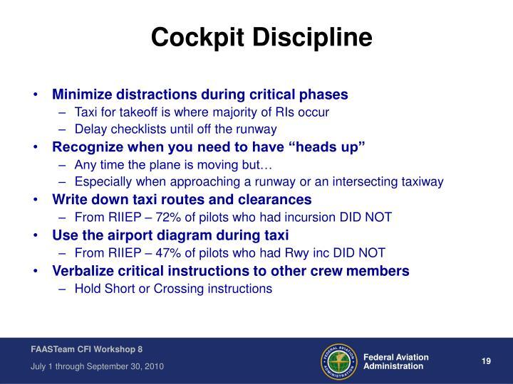 Cockpit Discipline