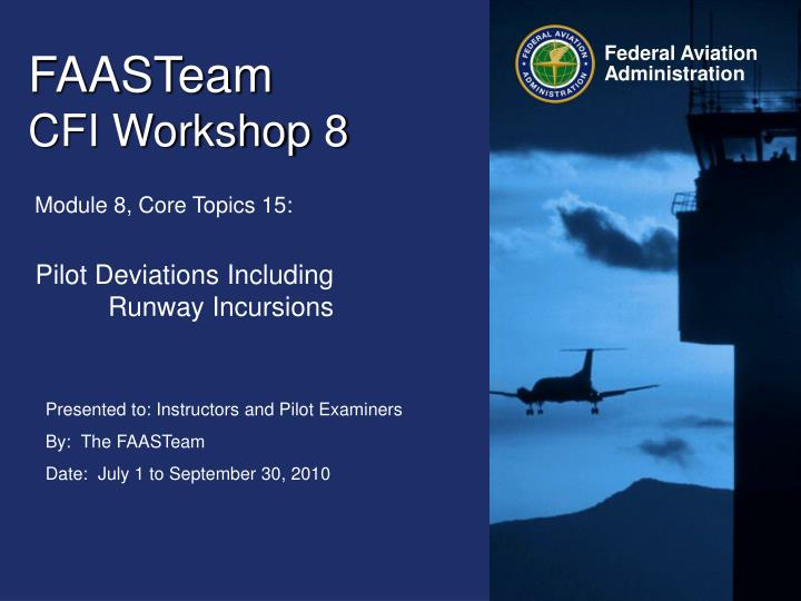 faasteam cfi workshop 8
