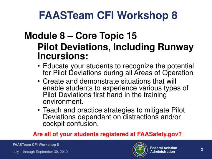 FAASTeam CFI Workshop 8