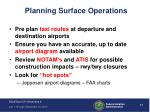 planning surface operations