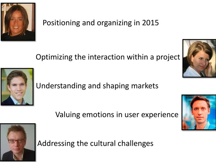 Positioning and organizing in 2015