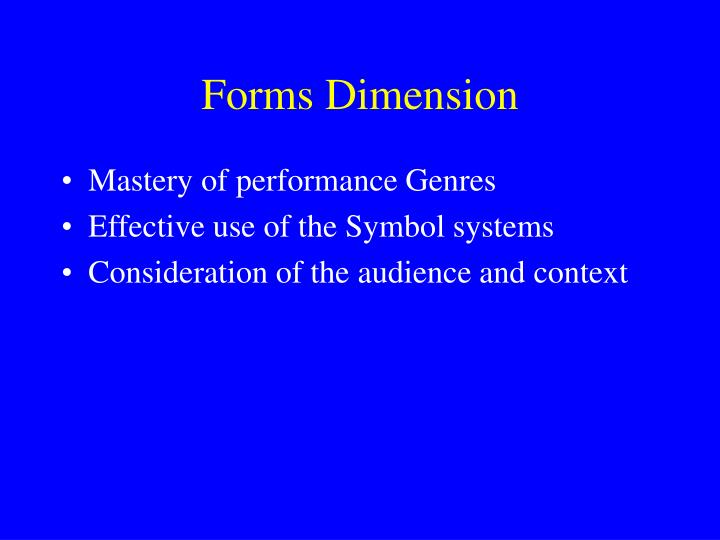 Forms Dimension