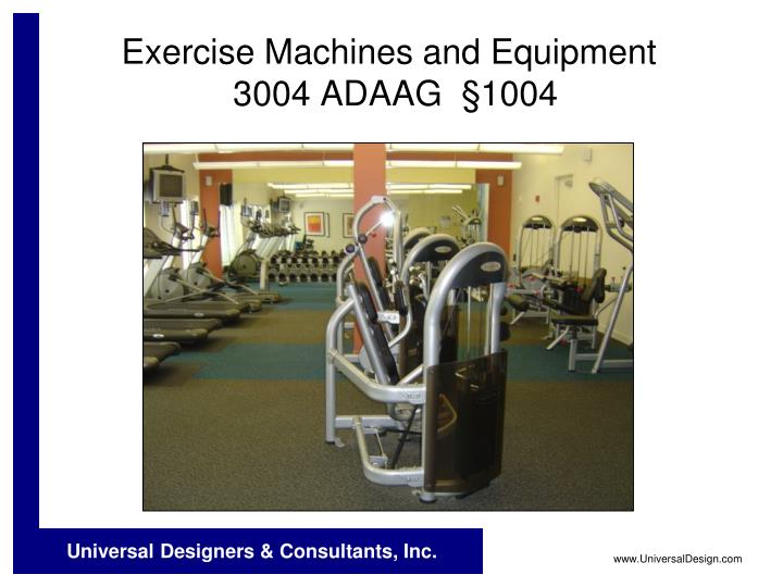 Exercise Machines and Equipment