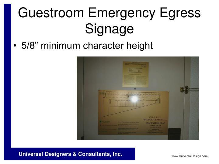 Guestroom Emergency Egress Signage