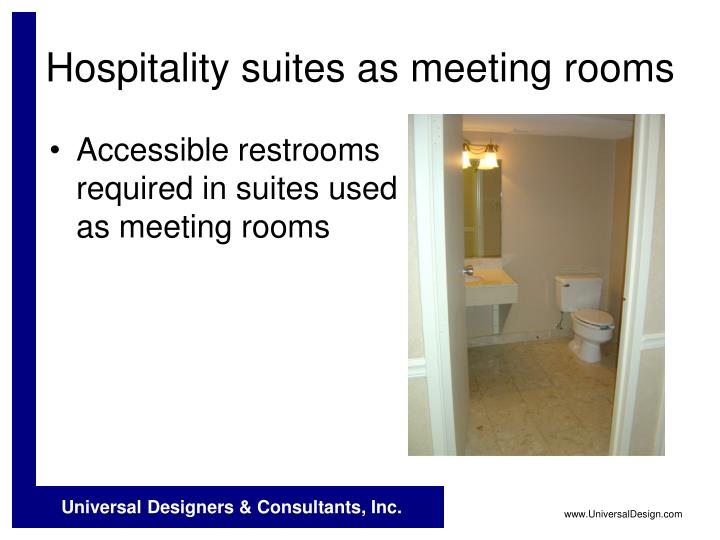 Hospitality suites as meeting rooms