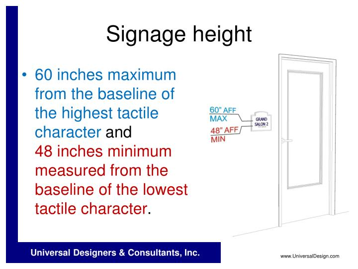 Signage height