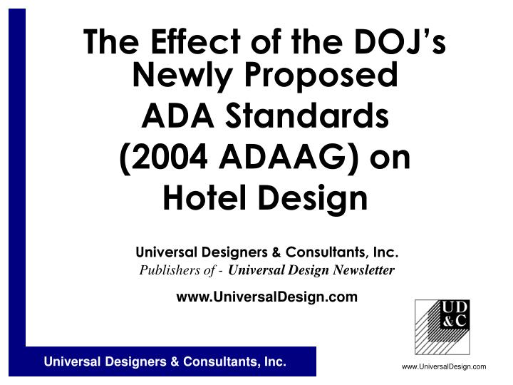 The effect of the doj s newly proposed ada standards 2004 adaag on hotel design