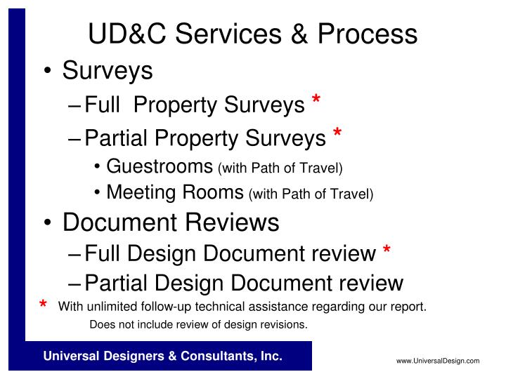 UD&C Services & Process