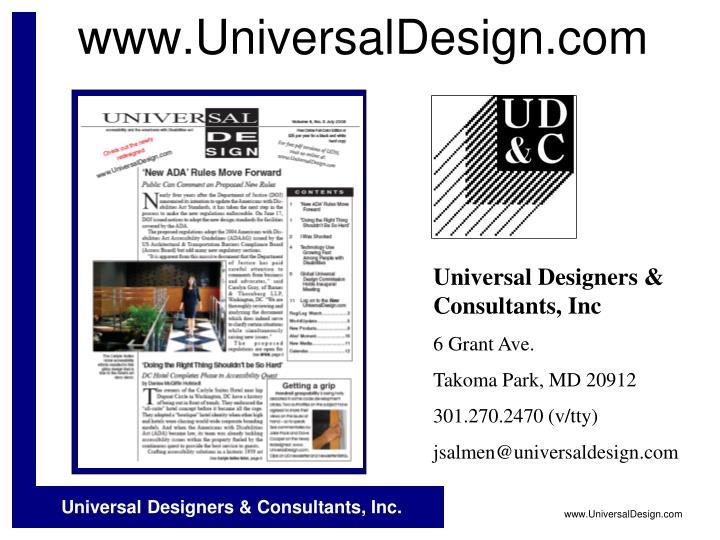 www.UniversalDesign.com