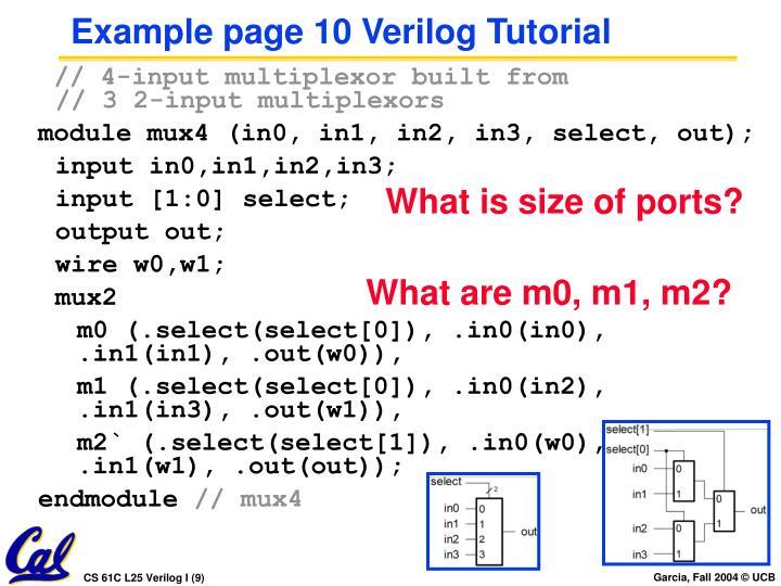 Example page 10 Verilog Tutorial