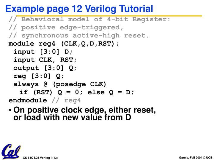 Example page 12 Verilog Tutorial