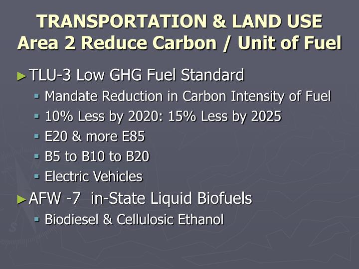 TRANSPORTATION & LAND USE